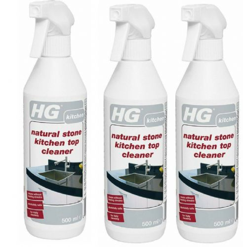 HG Natural Stone Kitchen Top Cleaner 500ml Pack of 2